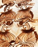 Peinture sur tapa - Juliette Pita