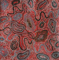 Ngapa Water Dreamtime - Jillian Nampijinpa Brown