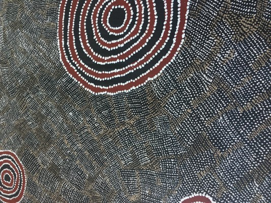 Blue Tongue Lizard Dreaming - Wentja Morgan Napaltjarri