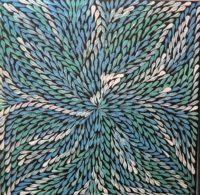 Bush Flower bleu - Dulcie Long Pwerle